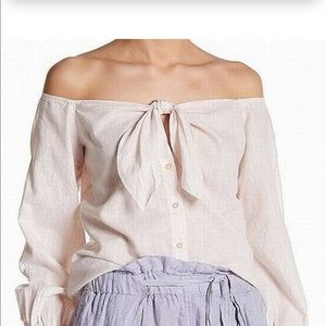 Free people off the shoulder tie top